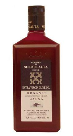 Cortijo de Suerte Alta Picual- Award Winning, NOP Organic Certified, Cold Pressed EVOO Extra Virgin Olive Oil,2012-2013 Harvest, 17-Ounce Glass Bottle - http://goodvibeorganics.com/cortijo-de-suerte-alta-picual-award-winning-nop-organic-certified-cold-pressed-evoo-extra-virgin-olive-oil2012-2013-harvest-17-ounce-glass-bottle/