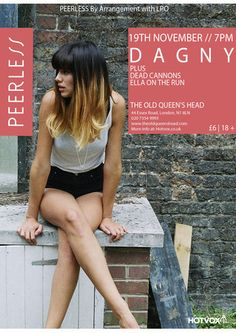 Peerless Featuring Dagny + support from Dead Cannons and Ella On The Run at The Old Queen's Head, 44 Essex Road, London, N1 8LN, United Kingdom, PEERLESS is brand new industry focussed night featuring the most exciting buzz bands on the circuit. URLs:Tickets: http://atnd.it/15966-1 Inquiries: http://atnd.it/15966-2  Price: £6.00  Artists: DAGNY, Dead Cannons, Ella On The Run  Category: Live Music | Gig, 19 Nov at 19:00 - 23:30