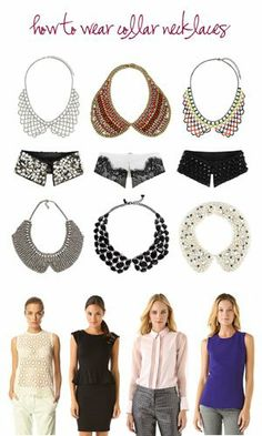 Got one for my bday and didn't know what to pair it with, check out this article -> Ask Kate: How to Wear Collar Necklaces - The Good, The Bad & The Lovely - October 2012