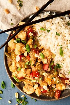 Kung Pao Chicken - Better than Take-Out - Ready in 30 Minutes! Best Chicken Recipes, Turkey Recipes, Lunch Recipes, Asian Recipes, Beef Recipes, Dinner Recipes, Healthy Recipes, Ethnic Recipes, Yummy Recipes
