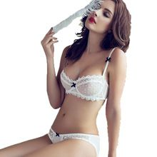 3678802d6dd3 OUDOMILAI 2018 Hot Push Up Bra Panty Sets Sexy Lace Underwear Women Bra Set  Plus Size Thih Cup Unlined Transparent Lingerie Set-in Bra & Brief Sets  from ...