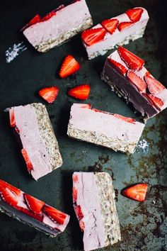Raw Vegan Strawberry Banana Ice Cream Cake | Will Frolic for Food