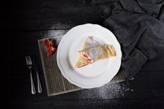 Jedlo - Palačinky s mascarpone a jahodami