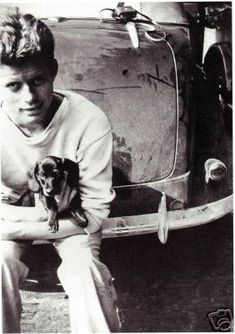 JFK with a dachshund
