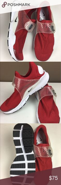 Nike sock dart gym red/ white black size 12 NWOB These nikes are Size 12 and New with out box. If you have any questions please feel free to message me. Thanks for looking! Nike Shoes Athletic Shoes