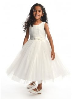 c9097762 Cindy Flower Girl Dress in Pale Ivory 1-12 years Puffy Skirt, Ivory Flower