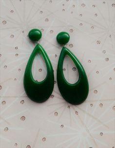 Bakelite Inspired Earrings,40s 50s Style Drop Earrings,Mid Century Modern,Bakelite Fakelite,Novelty Earrings,Rockabilly Earrings,50s Pin Up by RosieMays on Etsy