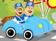 Pikku Kakkosen sivuilla pääsee lasten liikennepoliisien Maltin ja Valtin seurassa harjoittelemaan muun muassa liikennetilanteita ja liikennemerkkejä. #liikenneviikko #äläajapäälle