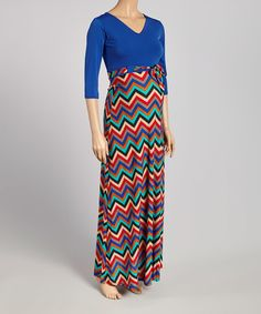 A graceful, floor-skimming cut sways with each stride, while stretch-enhanced fabric glides comfortably over growing curves. Cute Maternity Dresses, Maternity Maxi, Chevron, Curves, Skirts, Fabric, Fashion, Tejido, Moda