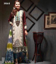 Tawakkal Artistry Chiffon Suit Collection 2015 3936_B