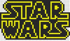 Star Wars Logo Perler Bead Pattern | Bead Sprites | Misc Fuse Bead Patterns