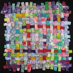 Handmade Art Quilt - PASTEL WEAVE