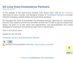 Gil Levy from Ecommerce Partners - Dec 2011  @SLISystems