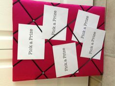 Thirty-One party prize board