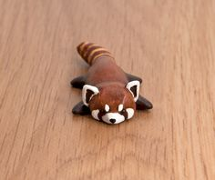 red panda polymer clay totem by lifedancecreations.deviantart.com on @DeviantArt
