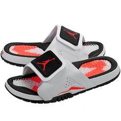 New 2014 Men's Air Jordan Hydro Retro VI 6 Sandal White/Infrared 23/Black