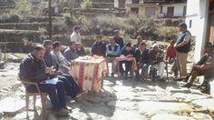 श्रीनगर विधानसभा मेँ पाबो ब्लाक में सदस्य अभियान के दौरान