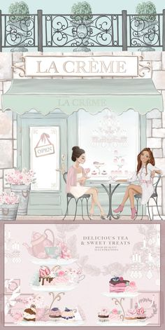 Bakery Interior, Bakery Decor, Shopping Clipart, French Buildings, Event Invitation Design, Posh Shop, Girls Tea Party, Girl Clipart, Cupcake Clipart