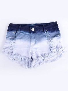 shorts for summer yes? Cute Teen Outfits, Teen Fashion Outfits, Short Outfits, Denim Fashion, Cool Outfits, Estilo Fashion, Tie Dye Jeans, Tie Dye Shorts, Diy Shorts