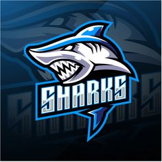 Shark esport mascot logo design Premium ... | Premium Vector #Freepik #vector #logo #design #character #cartoon Surf Vintage, Logo Esport, Gaming Logo, Shark Logo, Team Logo Design, Esports Logo, Joker Art, Professional Logo Design, Funny Video Memes