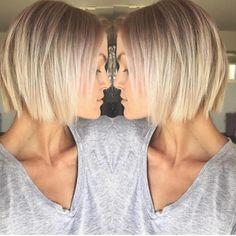 45 Stunning Short Hairstyles on Instagra… – diy hairstyles shorthair Bobs For Thin Hair, Short Thin Hair, Short Hair Cuts, Short Pixie, Short Blonde Bobs, Hair Bobs, Thick Hair, Bob Hairstyles For Fine Hair, Spring Hairstyles