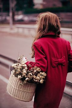 Red coat & flowers http://shop.urbantimes.co/