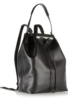 The Row|Leather backpack