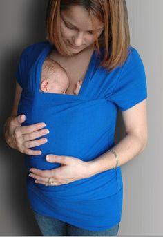 8afe0a670ee EcoBaby and Home - Skin To Skin Kangaroo T-Shirt   Nursing Shirt Nursing  Shirt