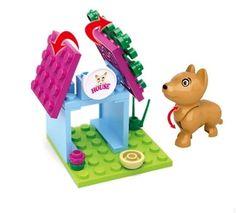19PCS Happy Girl Figures Dog House Building Blocks Minifigures Model Compatible Bricks Toys 2 sets/lot