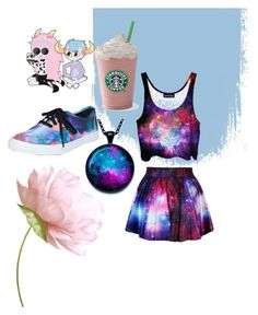 """""""girly galaxy"""" by marianna-xrisafi on Polyvore featuring Vans"""