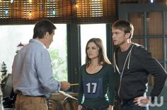 """""""The Race and The Relationship"""" - Pictured (L-R): Tim Matheson as Dr. Brick Breeland, Rachel Bilson as Dr. Zoe Hart, and Wilson Bethel as Wade in HART OF DIXIE on THE CW. Photo: Michael Yarish/The CW ©2012 The CW Network. All Rights Reserved."""