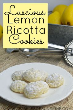 These luscious lemon ricotta cookies are bursting with the refreshing flavor of lemon packed in a cake-like cookie. It's perfect for spring, summer, or any time of year!