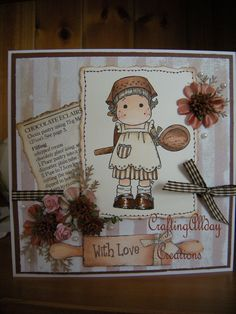 TILDA Glace Icing, Magnolia Colors, Soft Dolls, Cool Cards, Copic, Matilda, Mini Albums, Cardmaking, Projects To Try
