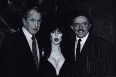 "Vincent Price, Elvira ""Mistress of the Dark"" and John Astin."