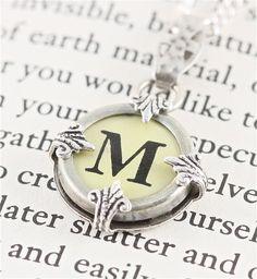 Vintage M Typewriter Key Necklace