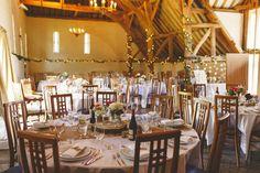 The Tithe Barn at @uftoncourt, Berkshire, UK. Photo by Benjamin Stuart Photography #barnwedding #rustic #weddingbreakfast