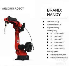Automatic welding robot also named Robot welding or Automated Welding, use of mechanized programmable robots, which completely automate a welding process by both performing the weld and handling the part. Automatic welding robot consists of robot and welding device.