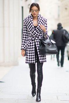 Alessandra Ambrosio in Paris Street-Style