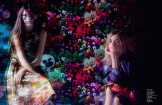 Models : Kori Richardson  Hanne Gaby Odiele,Alice Burdeu, Daiane Conterato by Serge Leblon AnOther Magazine Winter 2008