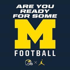 Are you ready for some (wolverine) football U Of M Football, College Football Teams, Sports Teams, Football Images, Football Quotes, Football Uniforms, Football Season, American Football, Michigan Athletics