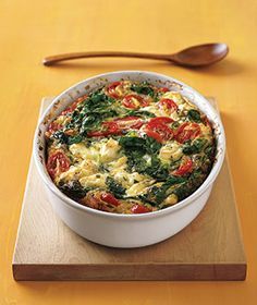 Greek Frittata   wow...  this looks so good, I guess eating healthy doesn't mean eating cardboard!!!