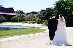 Stroll along the shores of Seven Seas Lagoon after saying I do at Disney's Wedding Pavilion