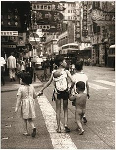 Street children of the Kowloon Peninsula, Lai Chi Kok Road, Sham Shui Po, British Hong Kong, 1969, photographer unknown.