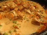 Bravčové kocky v mrkvičke a hrášku Cheeseburger Chowder, Thai Red Curry, Soup, Ethnic Recipes, Soups