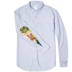 The Oxford shirt is a staple style of Visvim's, coming in a number of guises that are updated each season and the Albacore is one of our personal favourite iterations. This shirt is constructed from 100% Giza cotton, the highest grade of cotton in the world, from a strain developed and produced by Visvim and features contrasting tear drop sleeve inserts, finished with the AW14 collection's graphic textile. 100% Visvim Giza Cotton Oxford Contrast Elbow Panels Wooden Buttons Button Down ...