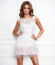 Millie Macintosh in Lipsy VIP Feather Dress