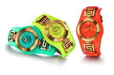 The iconic #Versace V-Signature watch collection is revamped with a new range of bright colors. A bold statement for Summer. #VersaceWatches