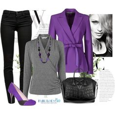 """""""http://www.fabulousafter40.com/"""" by styled-by-valerie-musto on Polyvore. I love everything about this outfit,"""