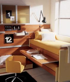 Contemporary desk / wood veneer / with trundle bed / child's - WHY SYSTEM : 22 - Quelli della mariani