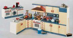 ドールハウスミニチュア家具「カントリー」キッチン家具